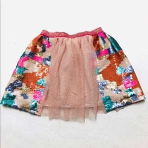 5/$25 Cat & Jack sequin tulle party skirt S 6 6X